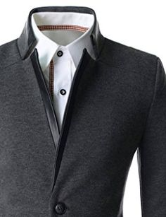 e819598daa Showblanc(SBDJK8) Man s Slim FIt Chinese Collar 2 button Casual Style  Blazer at Amazon Men s Clothing store