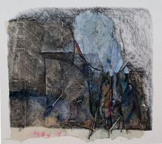 D-6.Sep.1984_added touches-24.Mar.2016 26.0x24.5cm mixed media painting on Gampi paper HAYASHI Takahiko 林孝彦