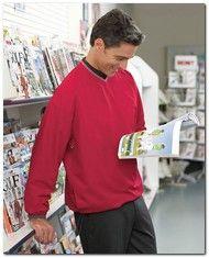 $48.25 > Ashworth 5267 Men's V-Neck Wind Jacket - Available Colors: 4, Size Range: S - 4XL