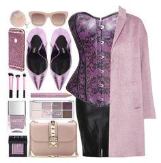 """Purple Rain"" by atomic-jane ❤ liked on Polyvore featuring Great Plains, Valentino, Nails Inc., NARS Cosmetics, Estée Lauder, STELLA McCARTNEY, Furla, women's clothing, women and female"