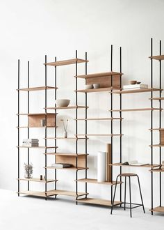 Modular Wooden Shelving Systems - Moebe's Storage Furniture Design Requires No Tools for Assembly (GALLERY) System Furniture, Home Decor Furniture, Living Room Furniture, Furniture Design, Furniture Movers, Furniture Chairs, Deco Furniture, Refurbished Furniture, Farmhouse Furniture