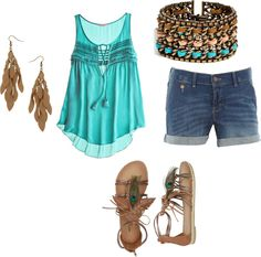 """Summer fun!"" by holly-alspaugh ❤ liked on Polyvore"