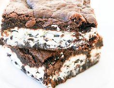 Cookies N Creme Brownies - Oh Sweet Basil