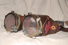 Steampunk Canada cosplay goggles. These are awesome and I'd love to have them!