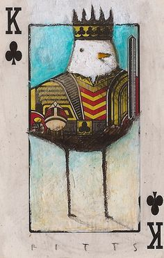 Bird- King of Clubs 2 ACEO by *SethFitts
