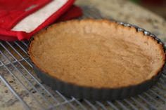 Honey graham cracker pie crust, Paleo! Grain and Dairy Free!  This might just be might new go-to pie crust from here on out!!