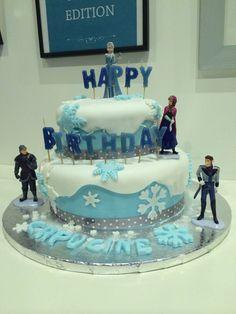 Gâteau anniversaire reine des neiges !