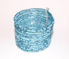 "Kraaltjes armband "" Frozen ""  Ibiza stijl TURQUOISE LICHT BLAUW- Dames / Meisjes - Ladies / Girls - Beaded bracelet  "" Frozen "" Ibiza fashion style TURQUOISE LIGHT BLUE"