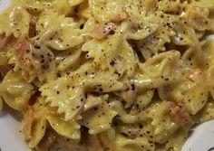 κύρια φωτογραφία συνταγής Φιογκάκια με μπέικον 🥓, ζαμπόν & κρέμα γάλακτος 🍶 Cookbook Recipes, Cooking Recipes, Pasta Recipies, Sweet And Salty, Crepes, Pasta Salad, Macaroni And Cheese, Food Porn, Food And Drink