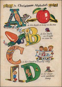 Antique Christmas Postcard... A Christmas Alphabet