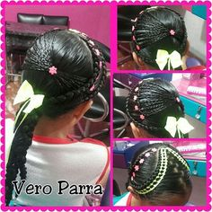 Clases personalizadas de peinados infantiles y sociales... 3137560516 #peinadostejidos #peinadoslindos #peinadosdeniña #clasespersonalizadas #cursosdepeinados #cursodepeinados Hair Styles, Beauty, Child Hairstyles, Party Hairstyles, Girls Hairdos, Braided Updo, Cornrows, Bias Tape, Hair Plait Styles