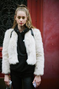 Street style at Paris Fashion Week Couture Spring 2017.