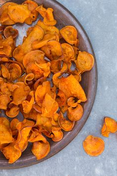 BBQ Sweet Potato Chips #food #glutenfree #sweetpotatoes