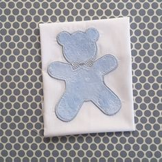 Baby Applique Machine Embroidery Design Boy Bear by BabyEmbroideryShop on Etsy
