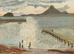 Tom Van Sant (1931-) - Beach Stroll at Cabo San Lucas, 1952