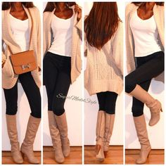 Fall outfit! Need this sweater!