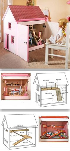 Wooden Doll House Plans - Wooden Toy Plans and Projects | WoodArchivist.com