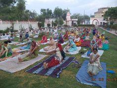 camp with blessings of yoga guru baba Ramdev World Yoga Day, Picnic Blanket, Outdoor Blanket, Baba Ramdev, International Yoga Day, Blessings, Camping, Campsite, Campers