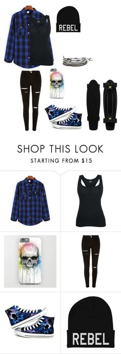 """Untitled #68"" by darksoul7 ❤ liked on Polyvore featuring Converse and Hot Topic"