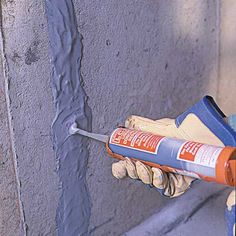 Do your concrete walls have cracks? Discover a simple, effective way to patch cracks in poured-concrete walls from the experts at This Old House today. Concrete Basement Walls, Old Basement, Cement Walls, Concrete Steps, Poured Concrete, Garage Walls, Basement Makeover, Basement Ideas, Foundation Repair