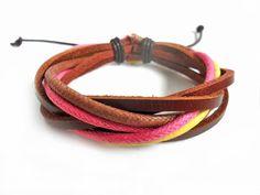 Bangle leather bracelet woven bracelet women by braceletbanglecase, $3.00
