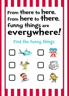 Hide these in the store.....free Dr.Seuss game