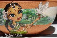 PANIHATI pot -Radha receiving letter from Krishna by candrika108