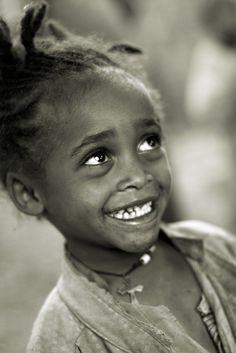 Ethiopia, young girl in a Dorze village near Arba Minch