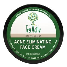 TreeActiv Acne Eliminating Face Cream | Best Natural Extra Strength Fast Acting Treatment for Clearing Facial Acne | Gentle Enough for Sensitive Skin, Adults, Teens, Men, Women | Tea Tree | 2 fl oz * Wow! I love this. Check it out now! : Oily SkinCare