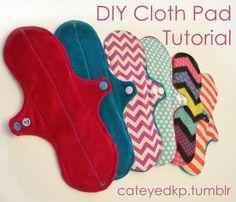 How to sew your own cloth pads- DIY cloth pad tutorial- cateyedkp.tumblr.com