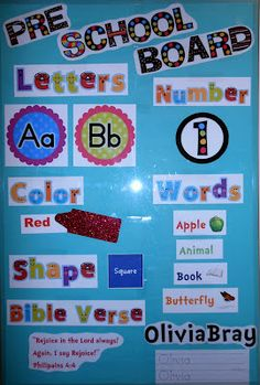 Classroom Focus Wall - Letter, number, shape, color, memory verse, etc of the week all on an interchangeable board!...Black and neon