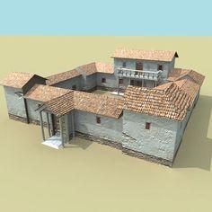 3d roman villa model - personal project