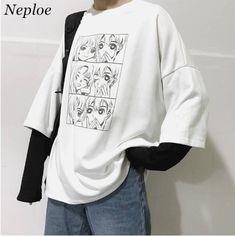 Japanese Aesthetic Kawaii T-shirt - harajuku Edgy Outfits, Anime Outfits, Retro Outfits, Grunge Outfits, Fashion Outfits, Aesthetic Shirts, Aesthetic Fashion, Aesthetic Clothes, Alternative Outfits
