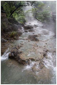 Shinbeitou, Taipei. People go there for hot spring spas.
