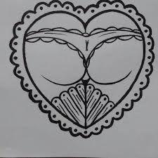 Αποτέλεσμα εικόνας για traditional heart butt tattoo