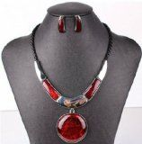 Spring Jewelry Sets Statement Pendant Necklace with Stud Earring 5 Colors Nl-2150 (Red) - http://tonysgifts.net/2015/04/16/spring-jewelry-sets-statement-pendant-necklace-with-stud-earring-5-colors-nl-2150-red/