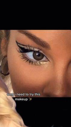 Edgy Makeup, Cute Makeup, Simple Makeup, Natural Makeup, Glamour Makeup, Eyeshadow Makeup, Eye Makeup Art, Makeup Tips, White Eye Makeup