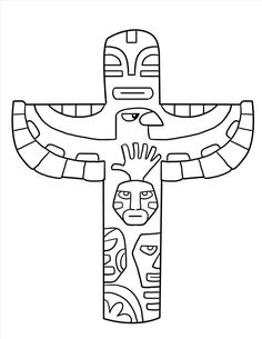 Totem Pole Coloring Pages . totem Pole Coloring Pages . Coloring Pages totem Poles Coloring Home Totem Pole Drawing, Totem Pole Craft, Bear Coloring Pages, Coloring Pages For Kids, Coloring Books, Coloring Sheets, Native American Totem Poles, Native American Crafts, Totems