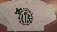 Monogrammed Mardi Gras T-Shirt