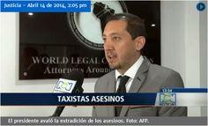 Declaraciones del abogado penalista Miguel Ramírez luego de que la CIDH pidiera información sobre taxistas implicados en el caso del agente de la DEA, Terry Watson, al Estado colombiano