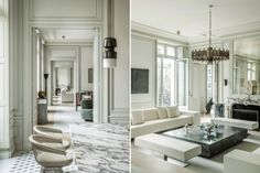 JOSEPH DIRAND DESIGNED A NEW PARIS APARTMENT AND IT'S STUNNING | Discover the season's newest designs and inspirations. Visit us at www.brabbu.com/news-events #interiordesigninspiration #homedecorideas #frenchstyle @brabbu