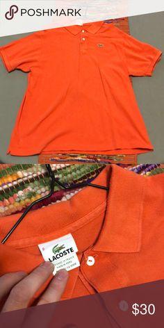 Orange Lacoste polo Orange Lacoste polo shirt Lacoste Shirts Polos