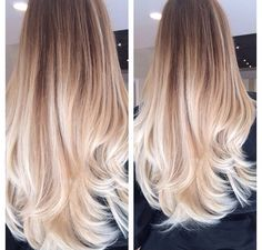 Very cute blond ombré.