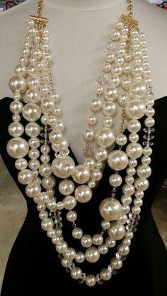 Resultado de imagen para collares de perlas grandes