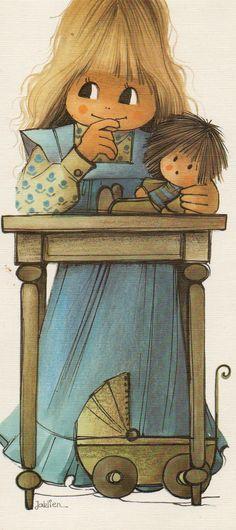 Jaklien Moerman. Sarah Kay, Illustrations, Book Illustration, Adult Coloring Pages, Coloring Books, Holly Hobbie, Tole Painting, Embroidery Art, Clipart
