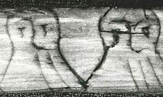 Mystery nosed out ... Fragment of wooden stick with runic inscription on one side found at the old wharf in Bergen. The text is written using a code where the number of 'hairs' in the beards of each face indicate the position of the character in the runic alphabet. Museum of cultural history, University of Oslo. Aslak Liestol Photograph: Aslak Liestol/Museum of Cultural History, University of Oslo An ancient Norse code which has been puzzling experts for years has been