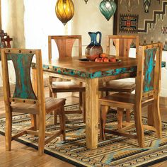By Lone Star Western Decor-Azul Barnwood Table & Chairs - 5 pcs Decor, Furniture, Western Living Rooms, Western Kitchen, Rustic Furniture, Home Decor, Barnwood Table, Western Home Decor, Western Furniture