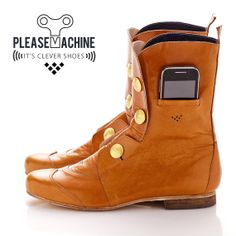 Love these.. Colonel boots for Men. Has Clever features by Pleasemachine, €250.00