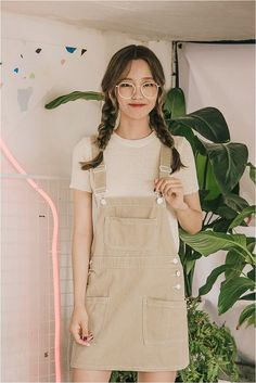 Cute overall skirt #kfashion #kooding #KoreanFashion