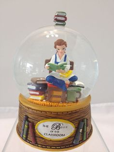The Belle of the Classroom Beauty and the Beast Miniature Snow Globe - Disney in Other | eBay